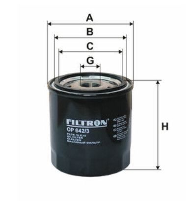 Фильтр масляный FILTRON OP642/3