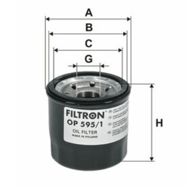Фильтр масляный MAZDA CX-5 FILTRON OP595/1