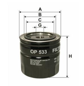 Фильтр масляный FILTRON OP533