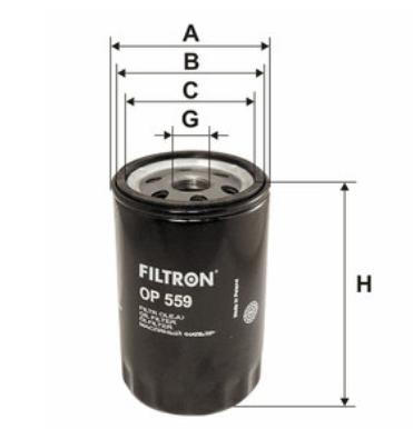 Фильтр масляный FILTRON OP559