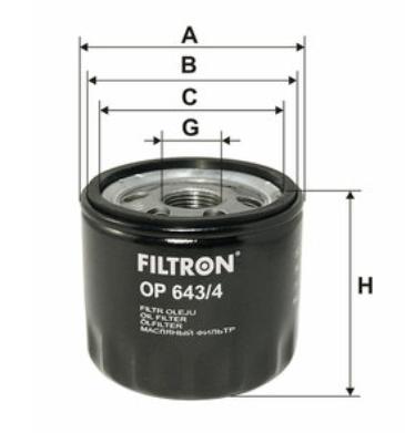 Фильтр масляный FILTRON OP643/4