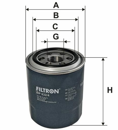 Фильтр масляный FILTRON OP632/4