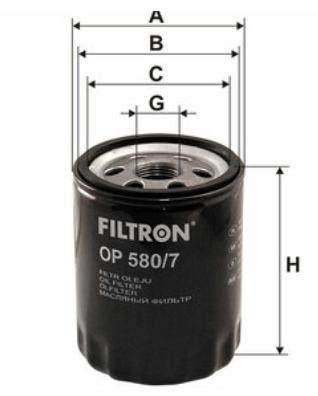 Фильтр масляный FILTRON OP580/7