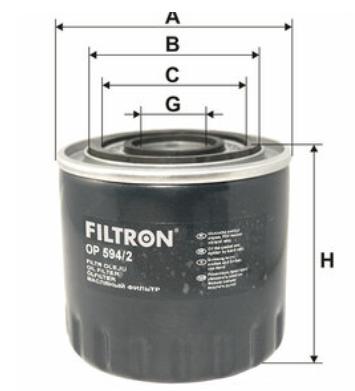 Фильтр масляный Renault Espace III (96-02), Laguna I, Safrane FILTRON OP594/2