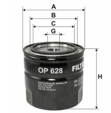 Фильтр масляный FILTRON OP628