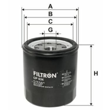 Фильтр масляный FILTRON OP634