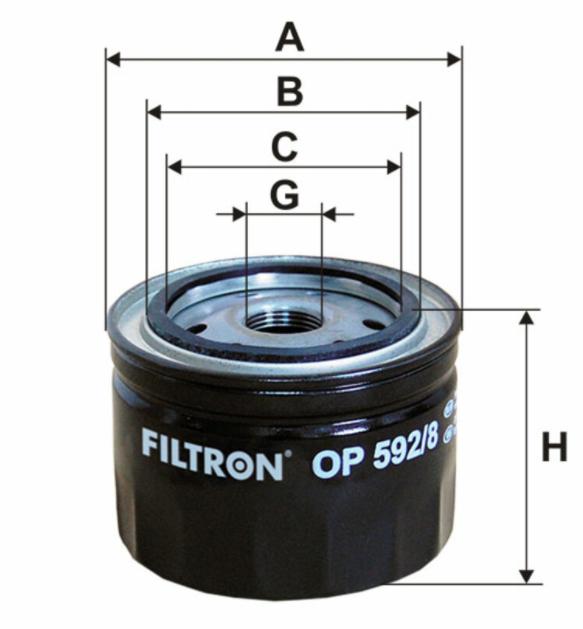 Фильтр масляный FILTRON OP592/8