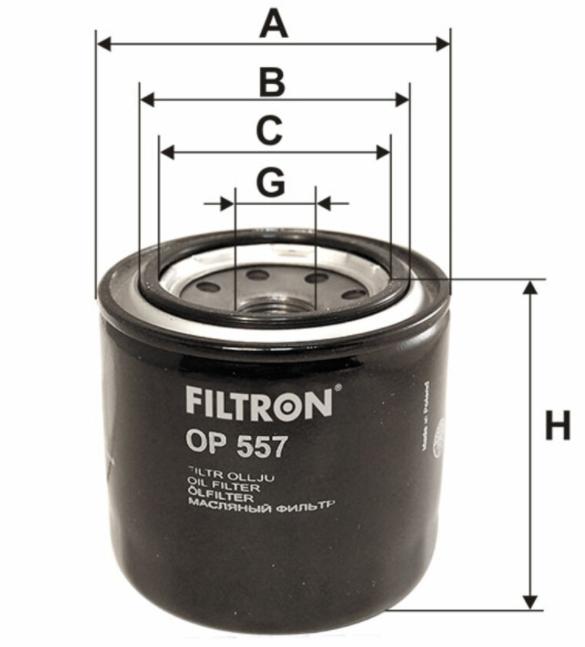 Фильтр масляный FILTRON OP557