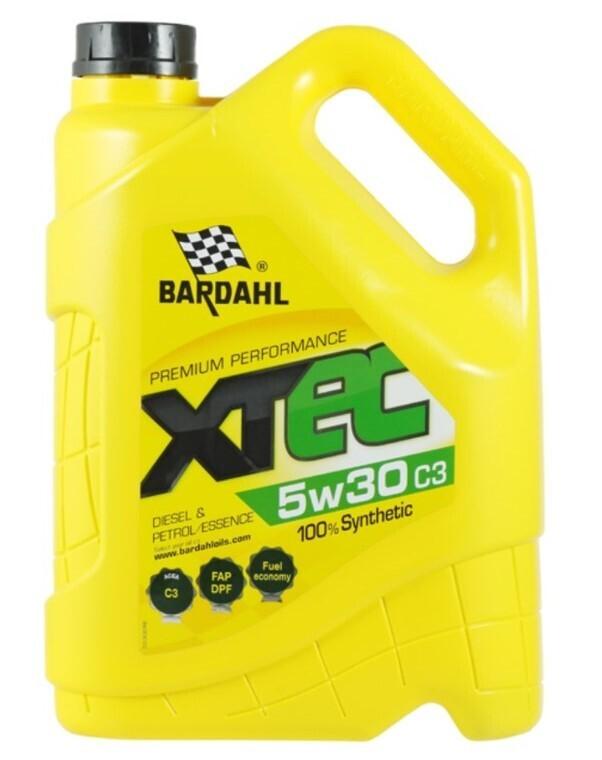 Масло моторное Bardahl XTEC 5W-30 C3 синтетическое 5 л
