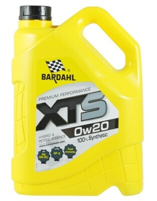 Масло моторное Bardahl XTS 0W-20 синтетическое 5 л