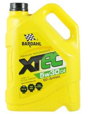 Масло моторное Bardahl XTEC 5W-30 C4 синтетическое 5 л
