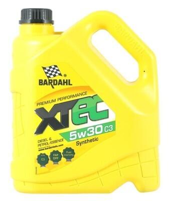 Синтетическое моторное масло Bardahl XTEC 5W-30 C3, 4 л