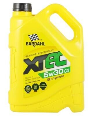 Синтетическое моторное масло Bardahl XTEC 5W-30 C2, 5 л