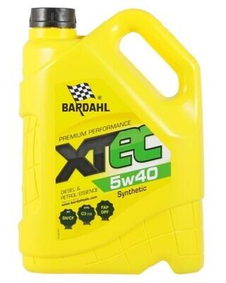 Синтетическое моторное масло Bardahl XTEC 5W-40, 5 л