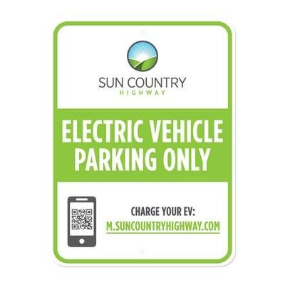 EV Parking Sign - English