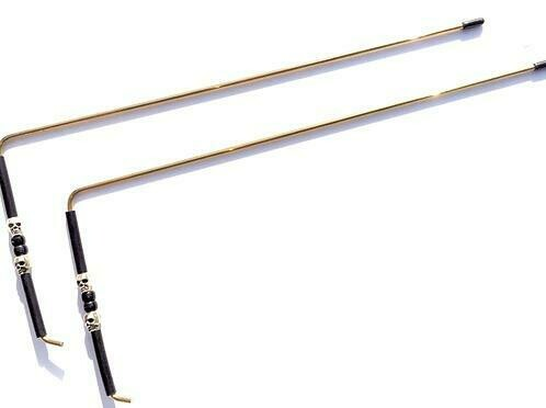 Dowsing Rods With Skull Handles -Brass