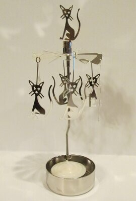 "Spinner Candle - Mystic Cat ""PINWHEEL"""