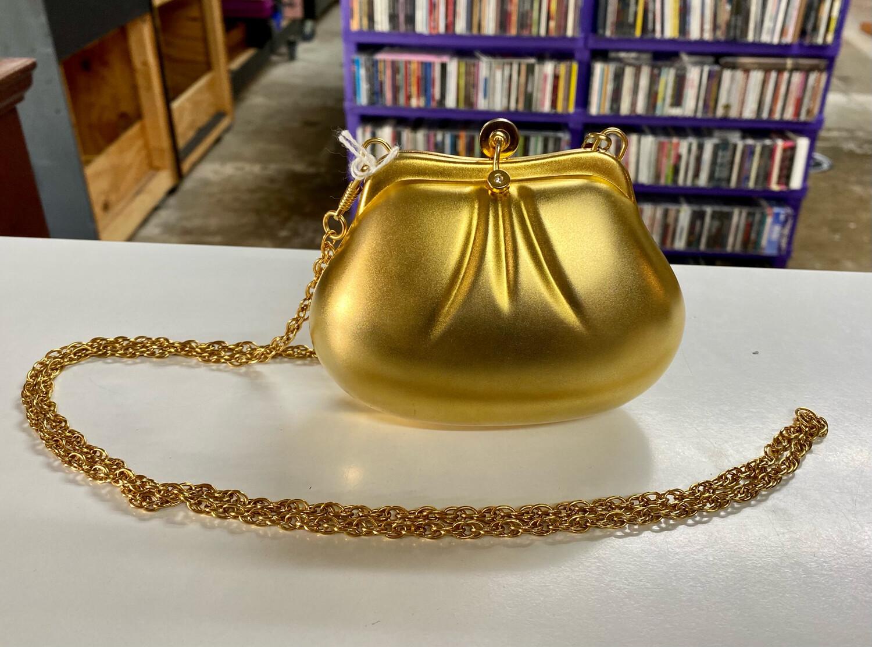 80s Gold Metal Clutch Purse