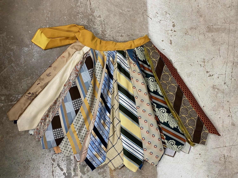 Custom Made Vintage Tie Skirt