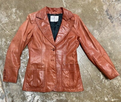 70s Wilson Suede Leather Jacket