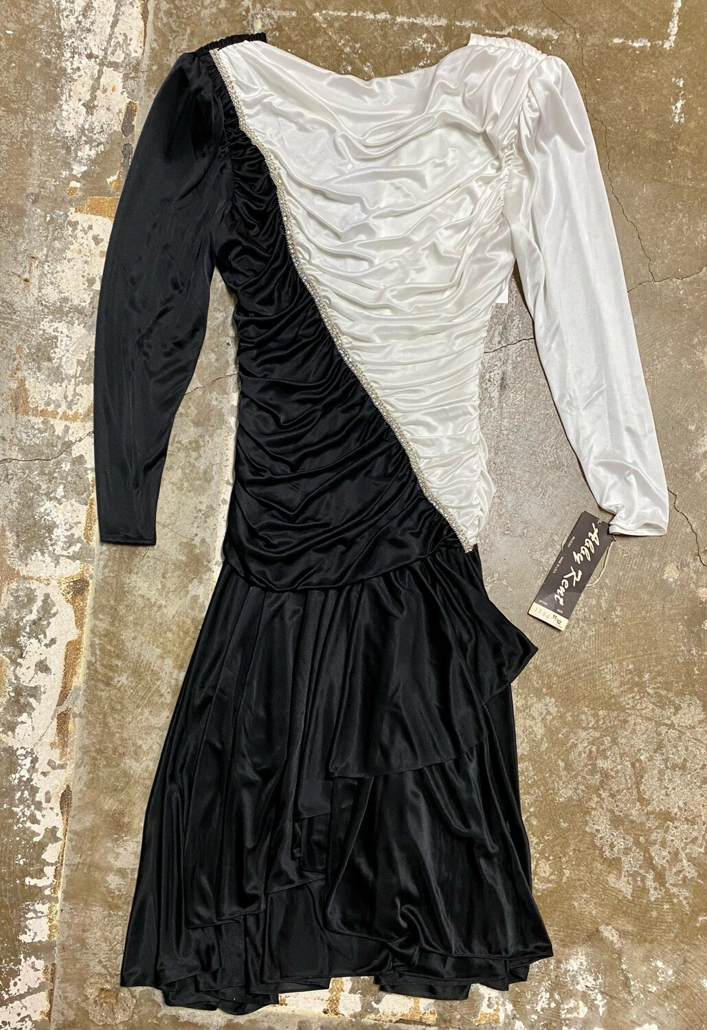 Abby Kent, Black and White 1980s Formal Dress