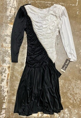 80s Abby Kent, Black and White Formal Dress