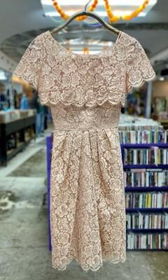50s Emma Domb Lace Dress w/ Matching Capelet
