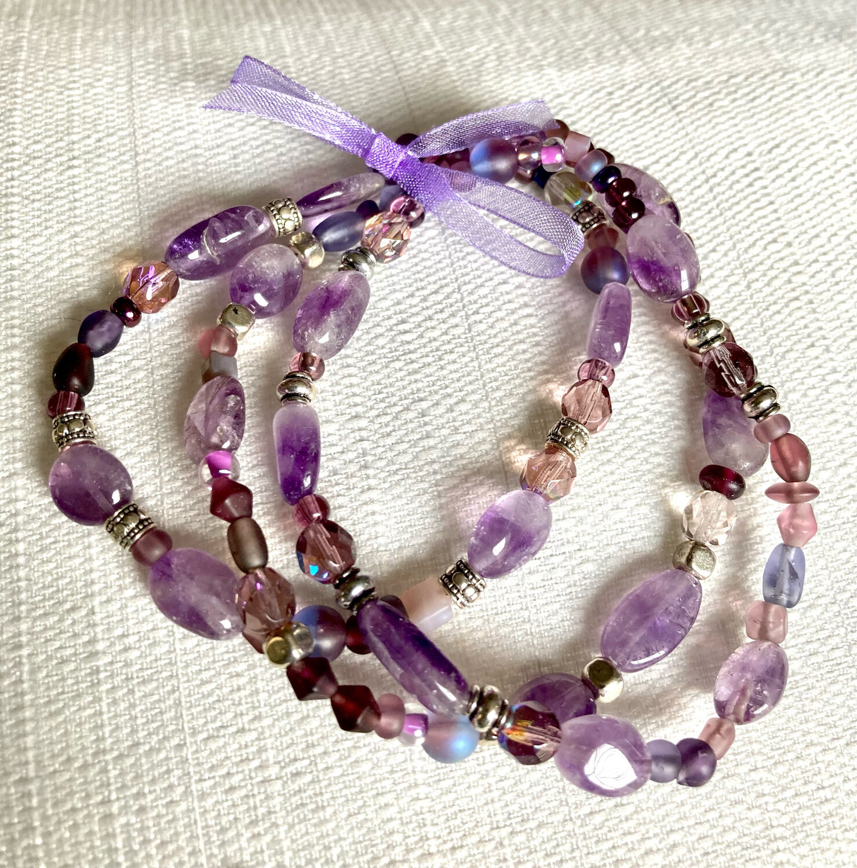 8 inch Amethyst Hodgepodge Bracelets