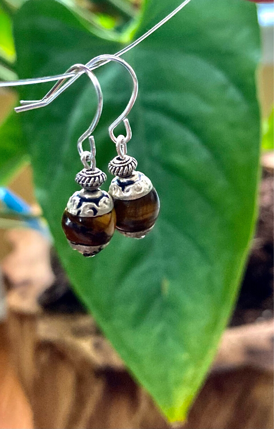 Tiger Eye Nepali Silver Capped Beads