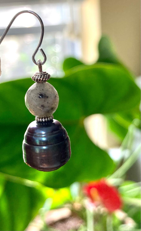 Baroque Pearl and Labradorite