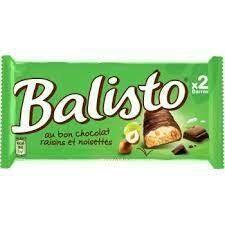 BALISTO VERT NOISETTES RAISINS X20