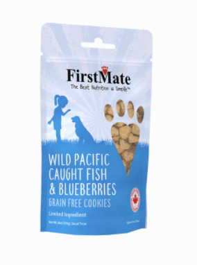First Mate Dog LID GF Fish & Blueberries  Cookies 8 oz
