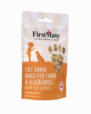 First Mate Dog LID GF FRange Lamb/Blueberries Cookies 8 oz