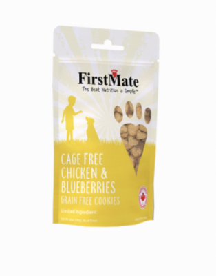 First Mate Dog LID GF Chicken & Blueberries  Cookies 8 oz