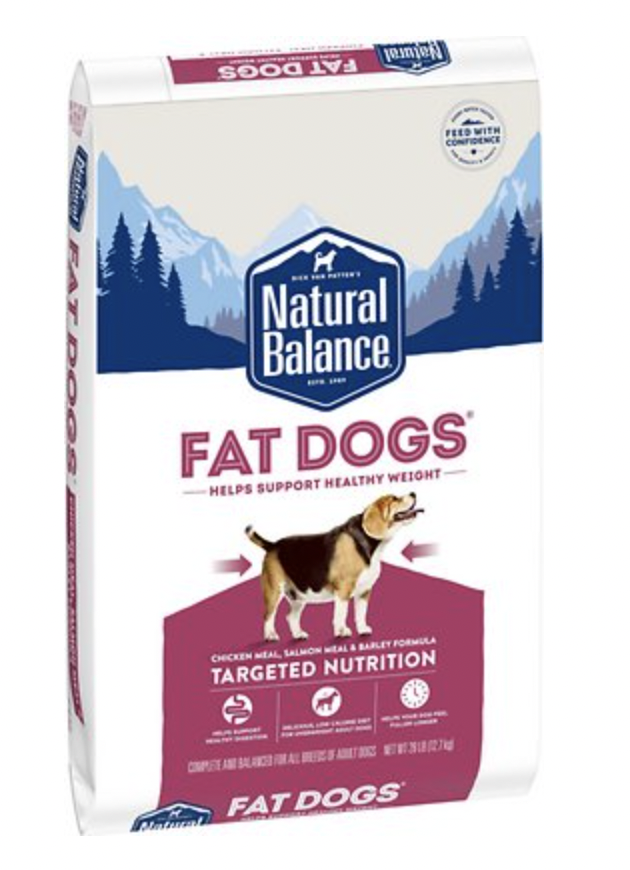 Natural Balance Targeted Nutrition Fat Dog Chicken & Salmon 28 lb