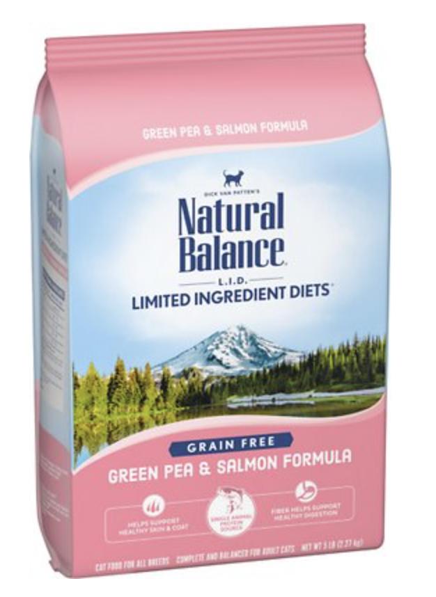 Natural Balance CAT LID Green Pea & Salmon 5 lb