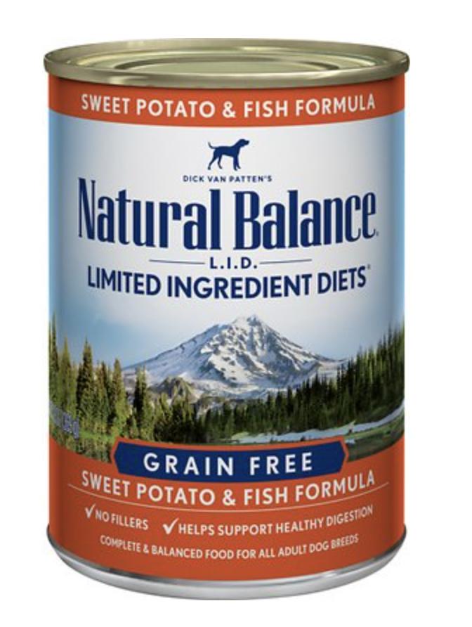 Natural Balance LID Fish & Sweet Potato 13 oz