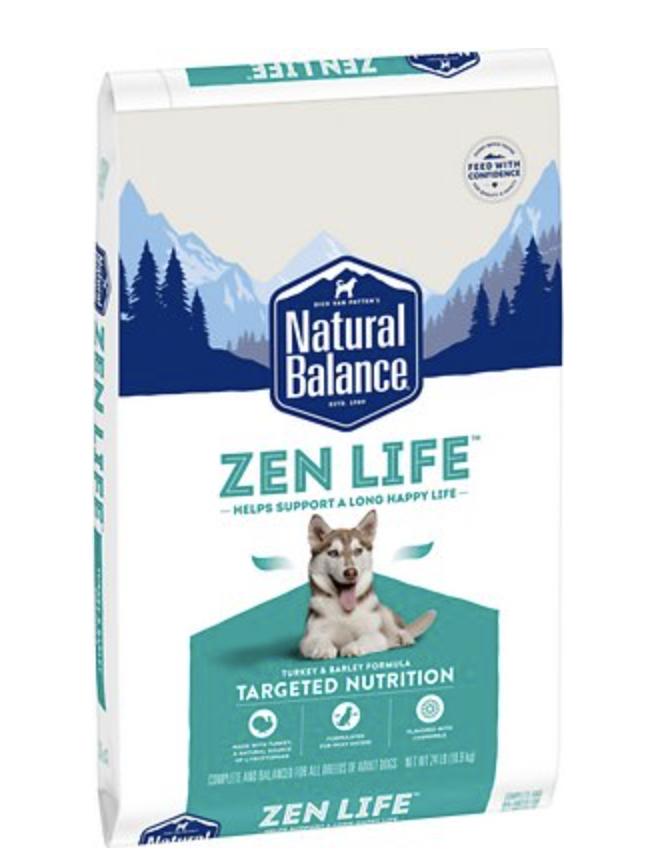 Natural Balance Targeted Nutrition Dog Zen Life Turkey 24 lb