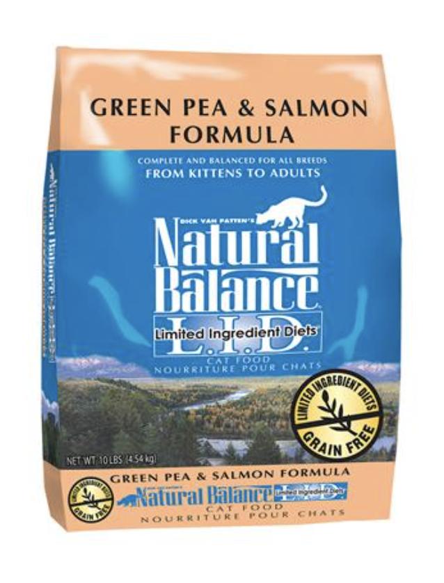 Natural Balance CAT LID Green Pea & Salmon 10 lb