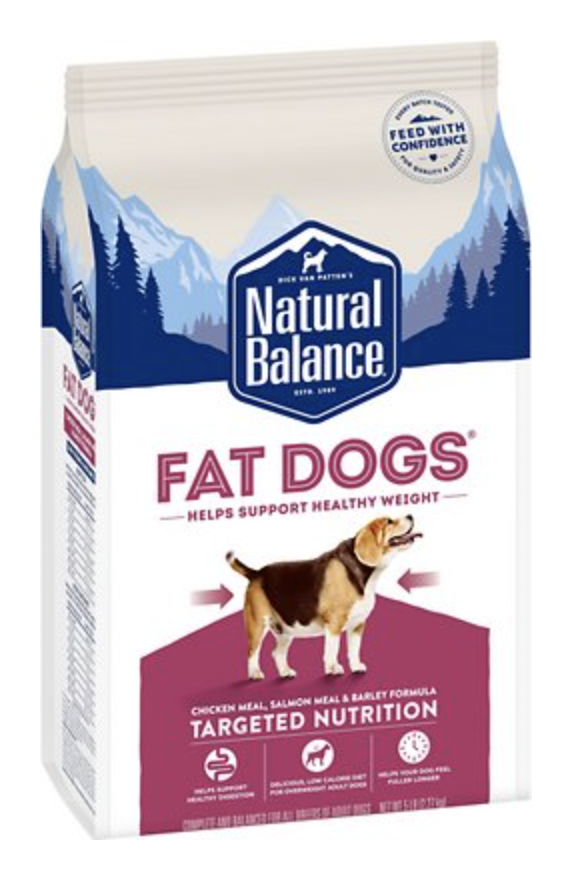 Natural Balance Targeted Nutrition Fat Dog Chicken & Salmon 5 lb