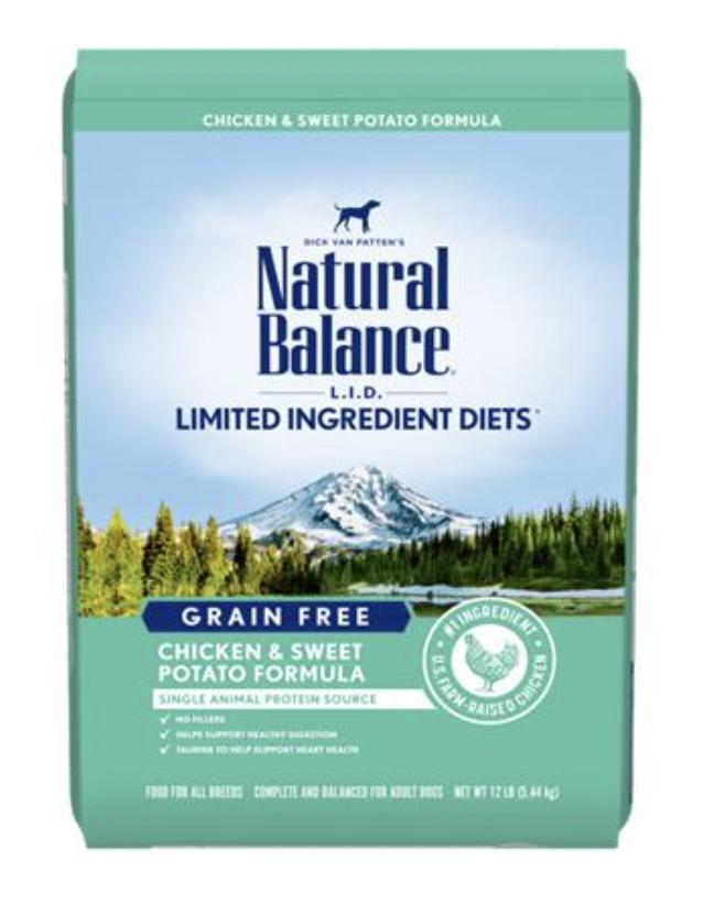 Natural Balance LID Grain Free Chicken & Sweet Potato 24LB