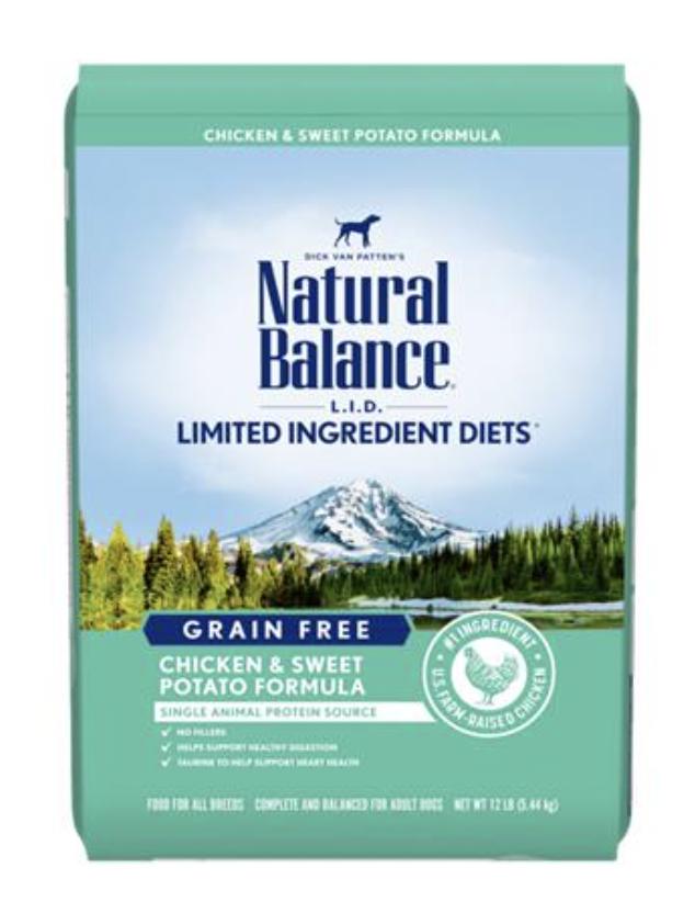 Natural Balance LID Grain Free Chicken & Sweet Potato 12 LB