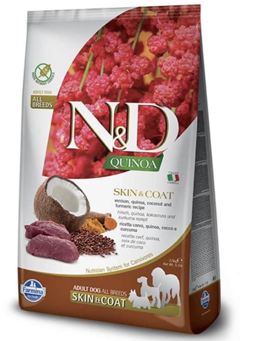 Farmina N&D Dog Quinoa Skin and coat Venison 2.5kg