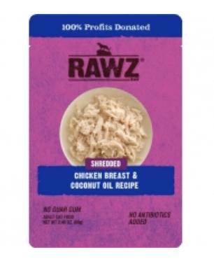 RAWZ Cat Shredded Chicken Breast & Coconut Oil Pouch 69g