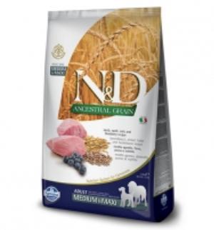 N&D DOG Ancestral Grain Lamb & Blueberry MED/MAXI 2.5kg