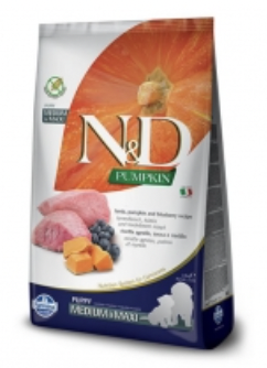 Farmina N&D Puppy Pumpkin Lamb and Blueberry Med and Maxi 2.5kg