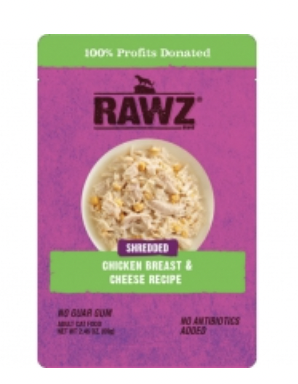 RAWZ Cat Shredded Chicken Breast & Cheese Pouch 69g
