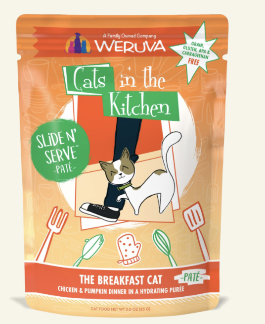 Cats in the Kitchen Slide 'n Serve Pate The Breakfast Cat 3oz