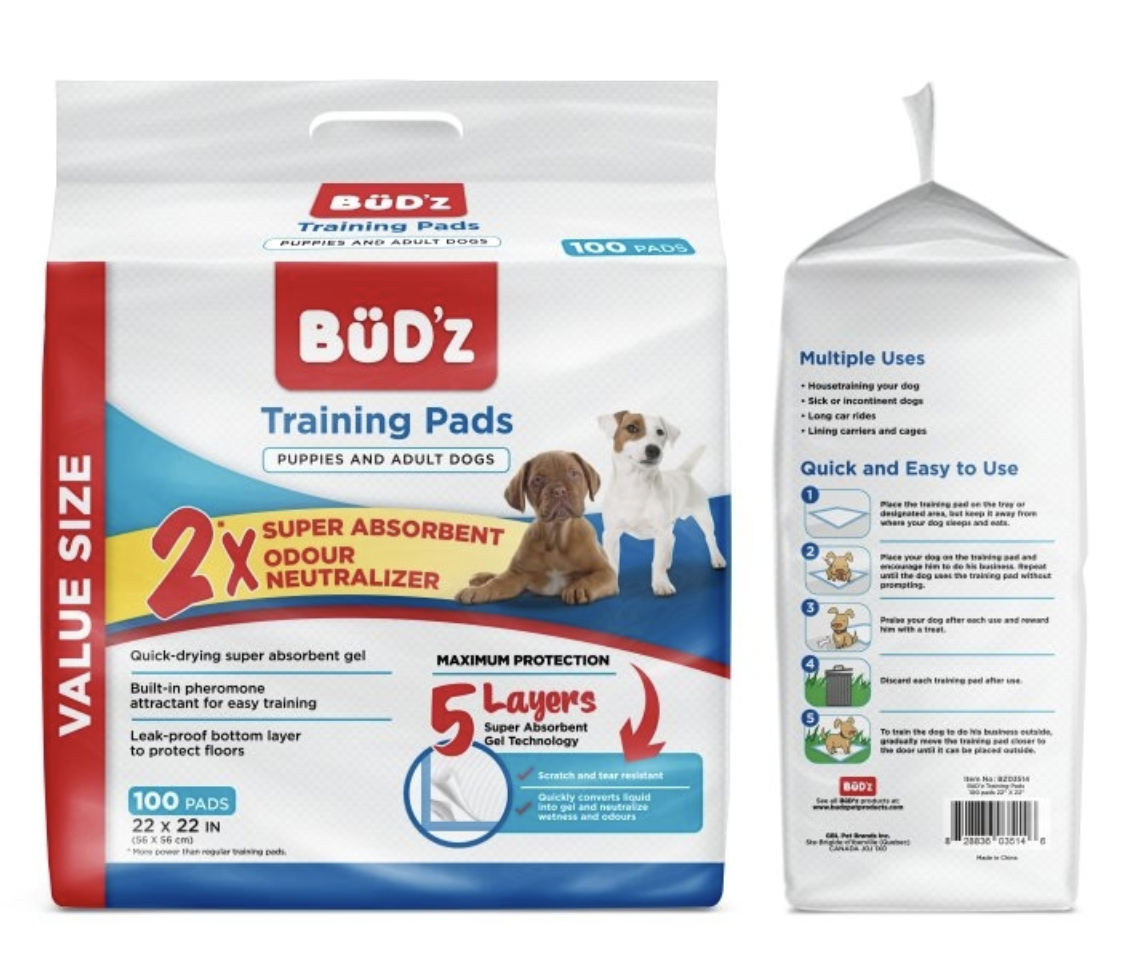 Budz Training Pads 100 pc
