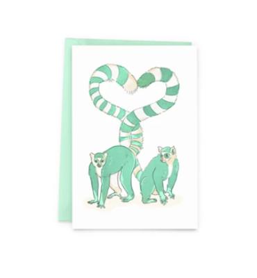 Lemur Love Greeting Card